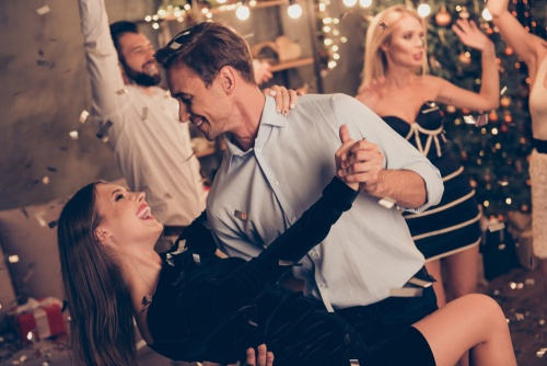 Holiday movie dance scenes